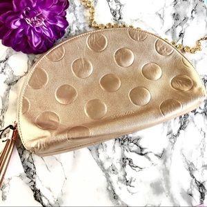 🆕 NEW ✨ SEPHORA Gold Shimmer Champagne Polka Dot